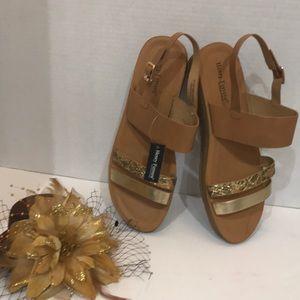 Casual Comfort Sandals Women's Tan / GoldNew